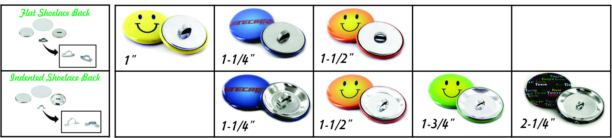 Button Making Supplies - Tecre - Shoelace Buttons