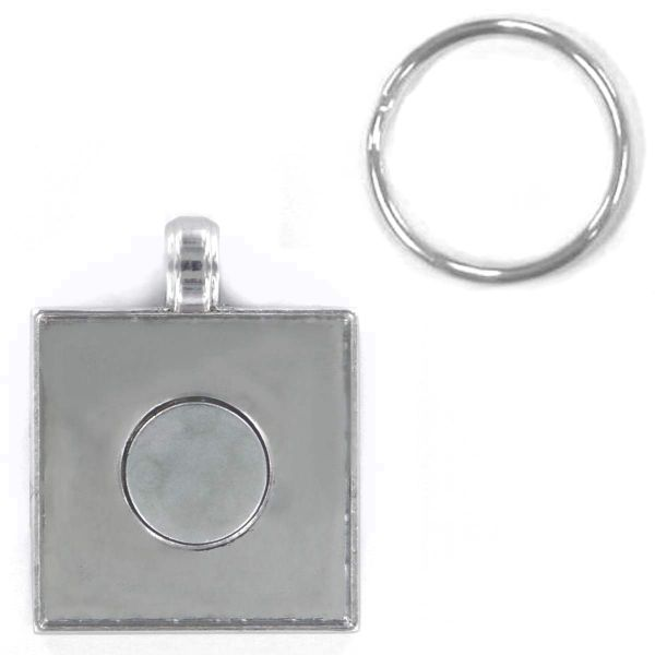 ArtClix Square Pendant With Split Key Ring
