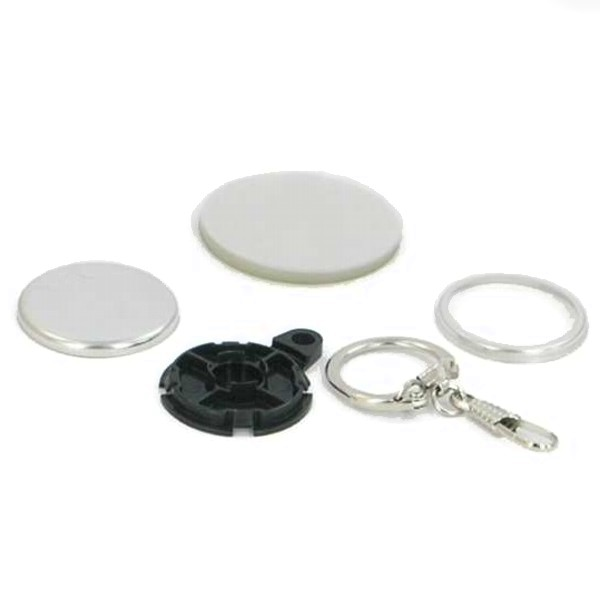 "1-1/4"" Round Versa-Back Snap Hook Key Ring Complete Set"