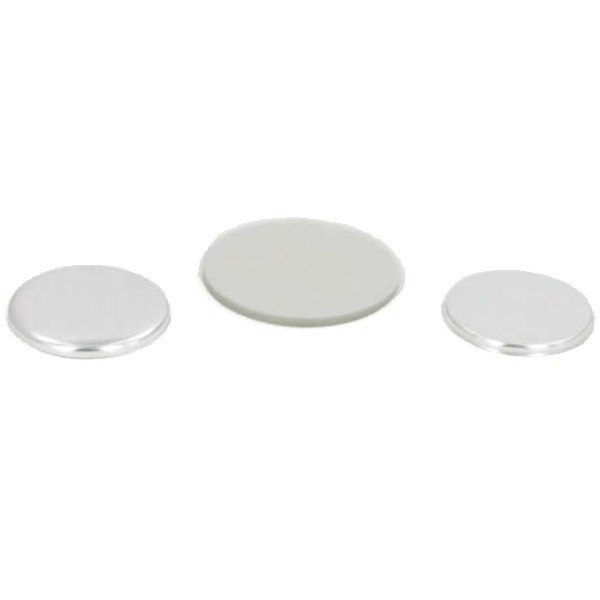 "1-1/2"" Round Flat Metal Button Complete Set"