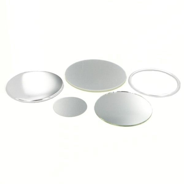 "3-1/2"" Round Mirror Button Complete Set"