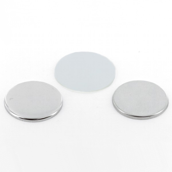 "1-3/4"" Round Flat Metal Button Complete Set"