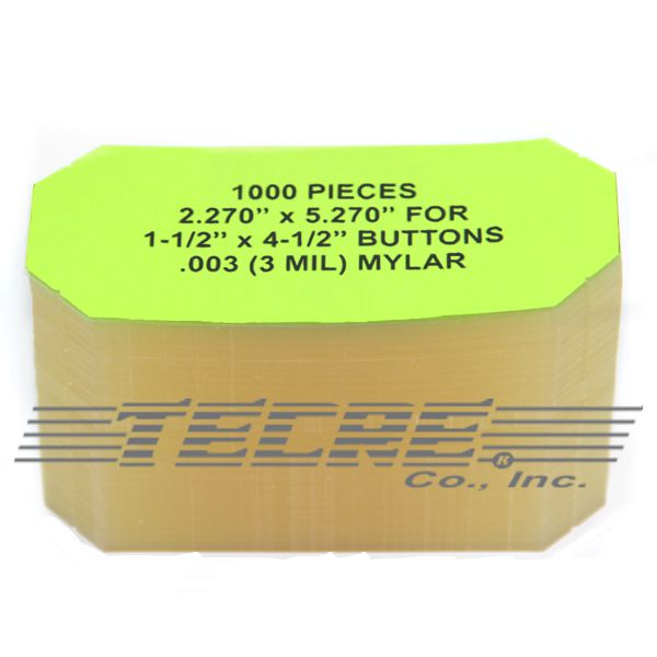 "1-1/2"" x 4-1/2"" Rectangle Mylar"
