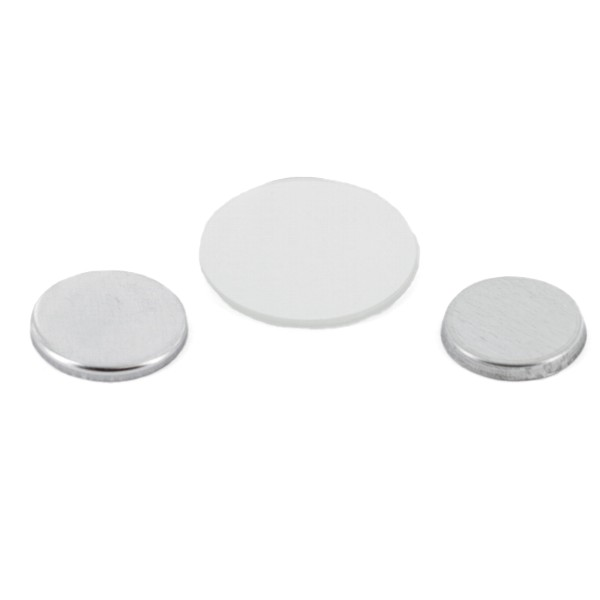 "7/8"" Round Flat Metal Button Complete Set"