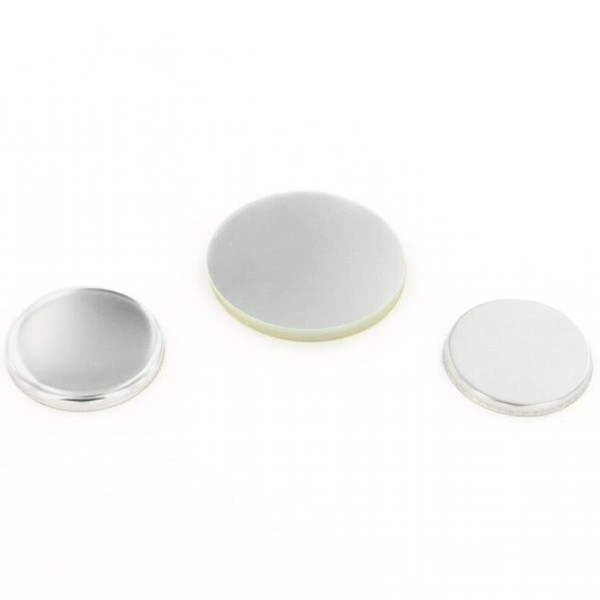 "1-1/4"" Round Flat Metal Button Complete Set"
