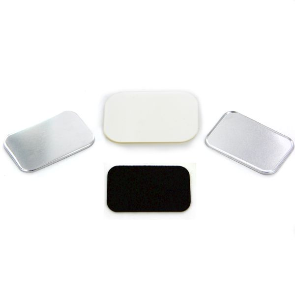 "NEW 2"" x 3"" Rounded Corner Rectangle Magnet Button Complete Set"